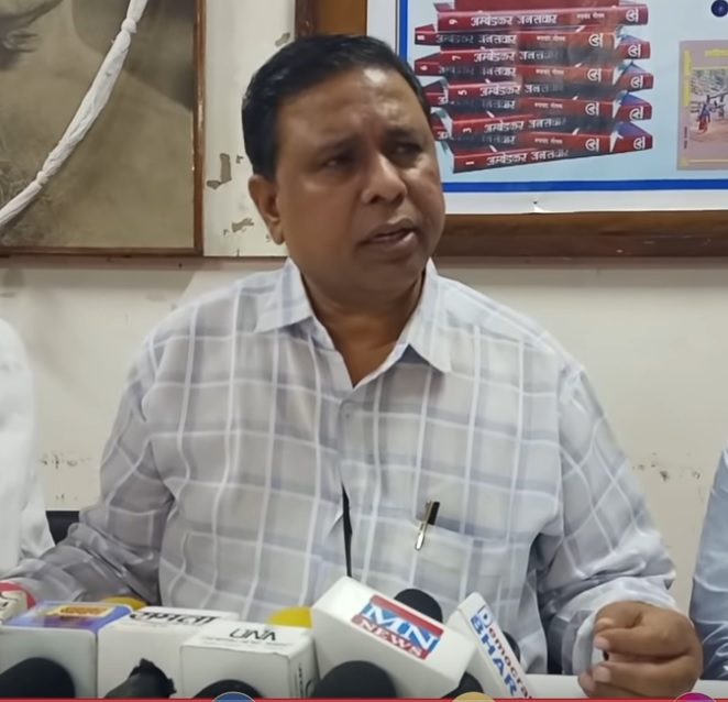 Waman Meshram's press conference on restrictions on social media