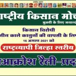 Nationwide Jan Aakrosh Rally – Rashtriya Kisan Morcha.